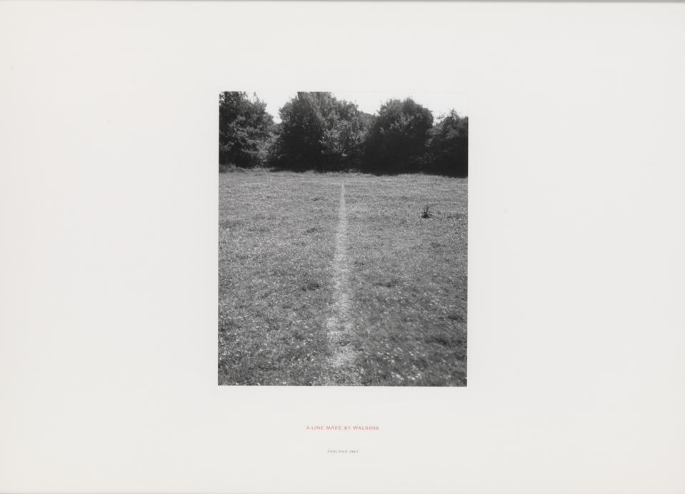 Richard Long. A Line Made by Walking 1967. ARTIST ROOMS National Galleries of Scotland and Tate. Acquired jointly through The d'Offay Donation with assistance from the National Heritage Memorial Fund and Art Fund 200. © Richard Long, DACS, London 2019. Photo © Tate