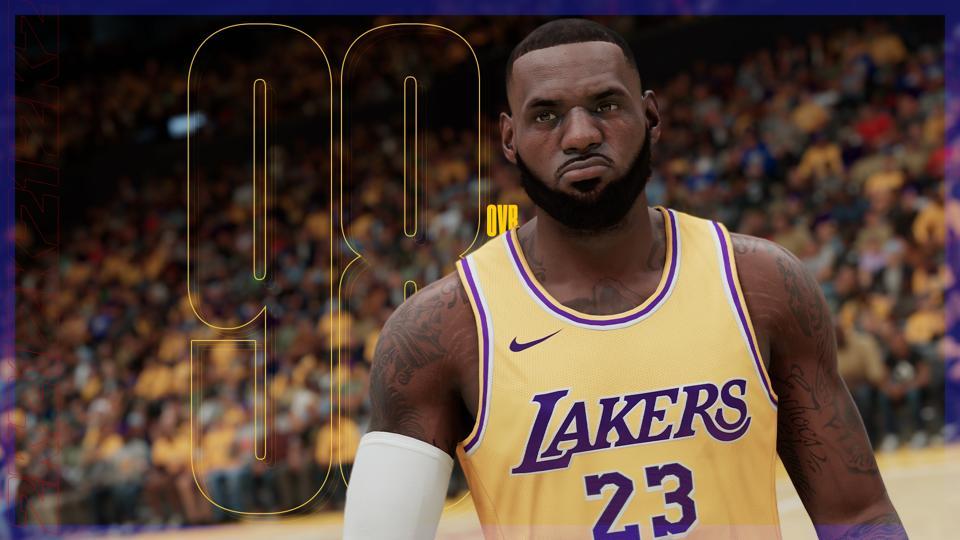 LeBron James in NBA 2K21