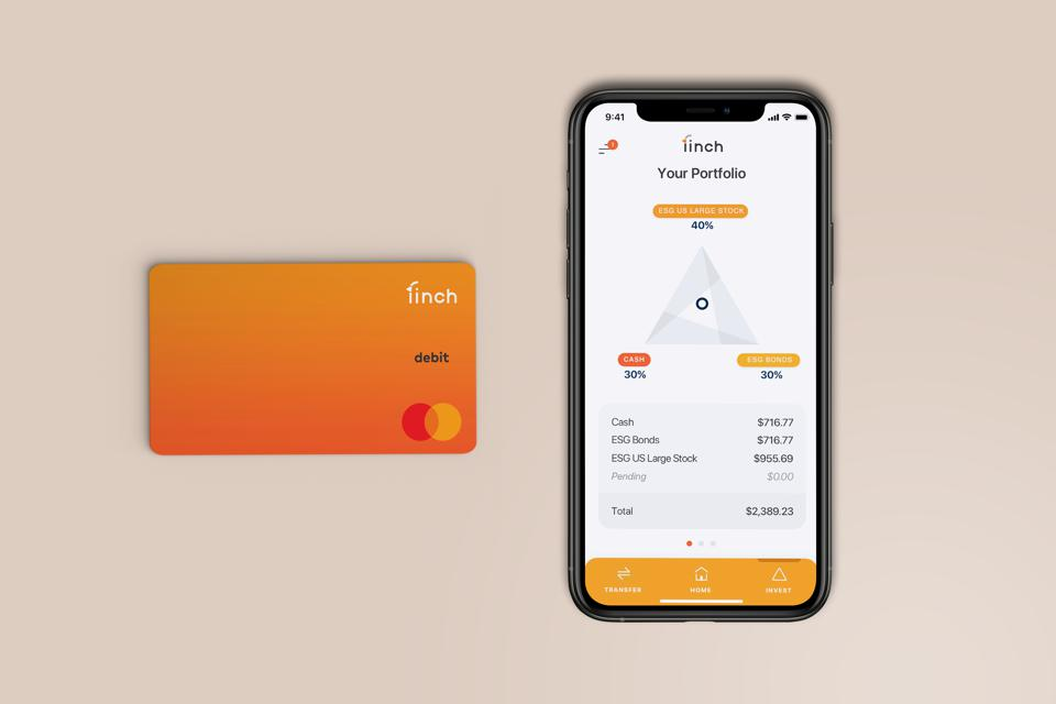 Finch debit card and mobile app.