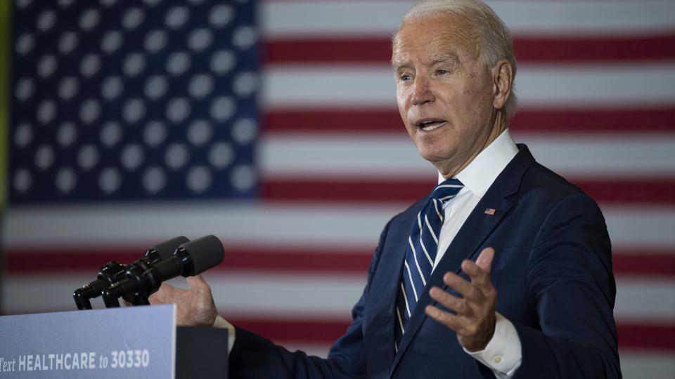Joe Biden gives speech