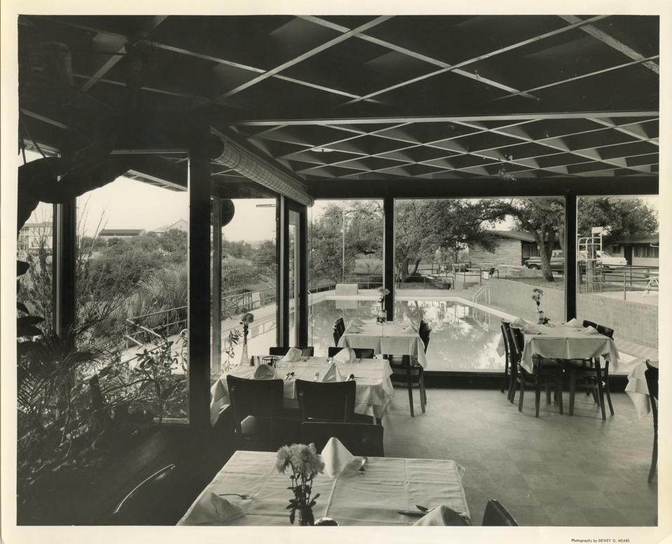 An archival image of the Terrace Motor Hotel.