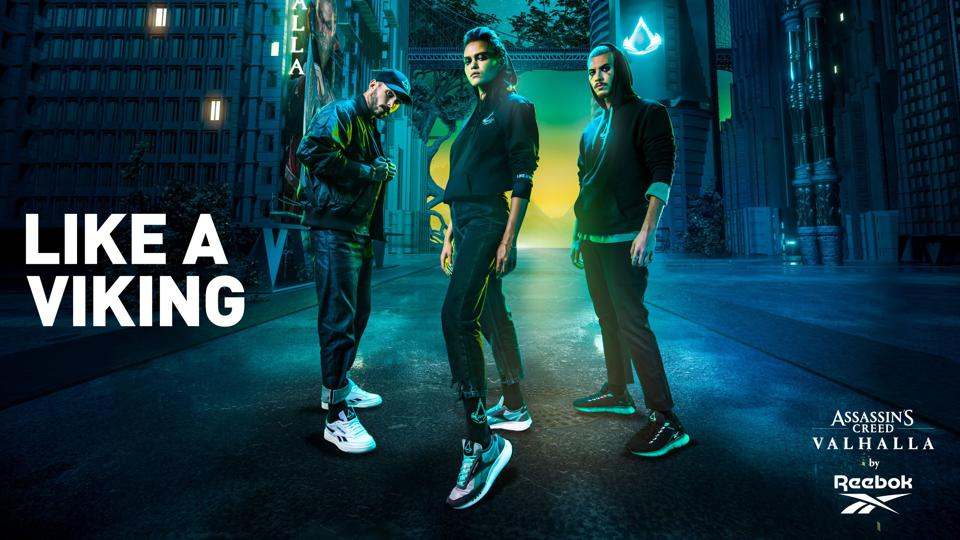 The Reebok and Assassin's Creed promo shot for sneakers