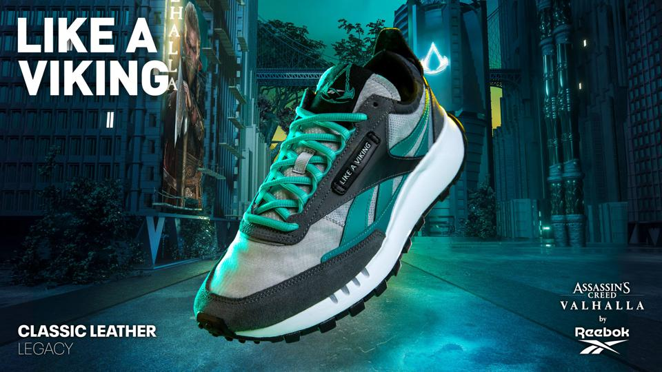 The Assassin's Creed Valhalla Reebok Classic Leather Legacy.
