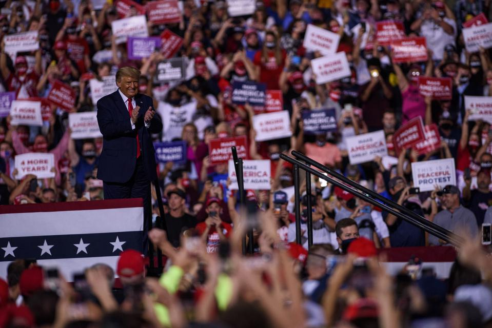 President Trump Rallies His Supporters In North Carolina