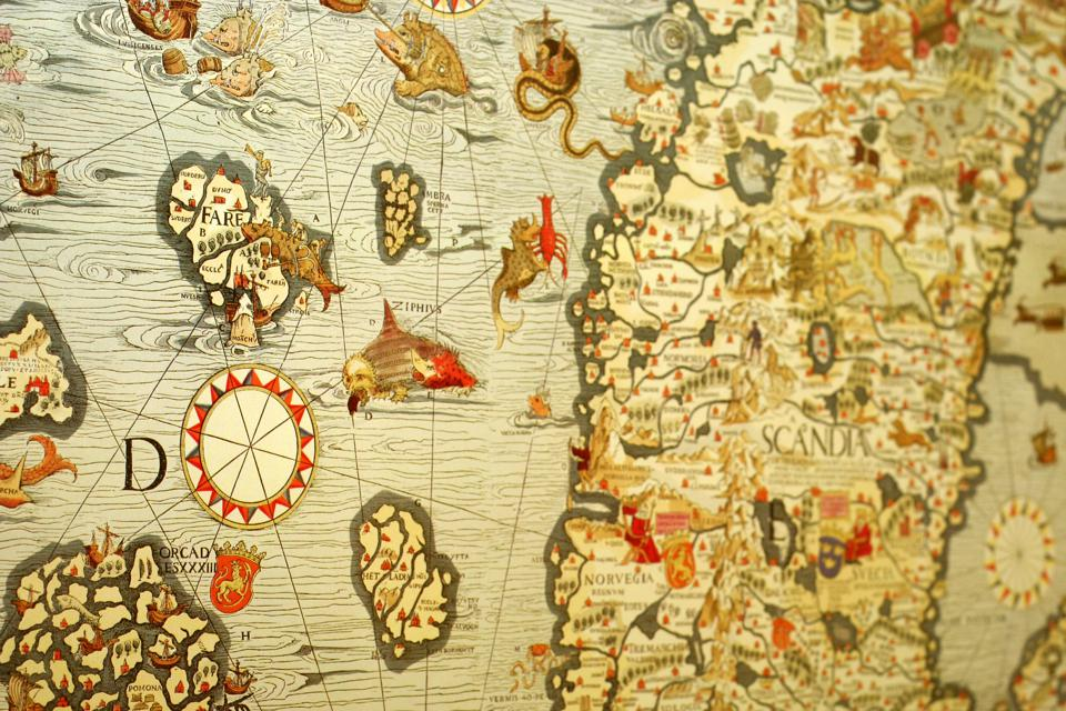 15 century map of sweden and the uk