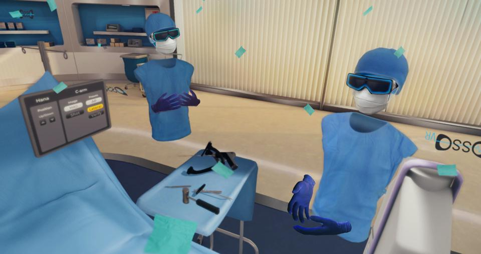 Osso VR is a medical VR application