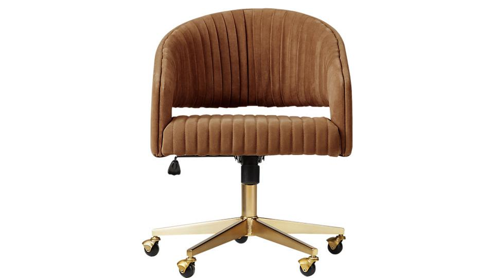 Channeled Suede Office Chair
