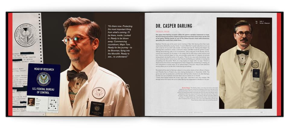 Casper Darling in The Art and Making of Control book by Remedy and Future Press