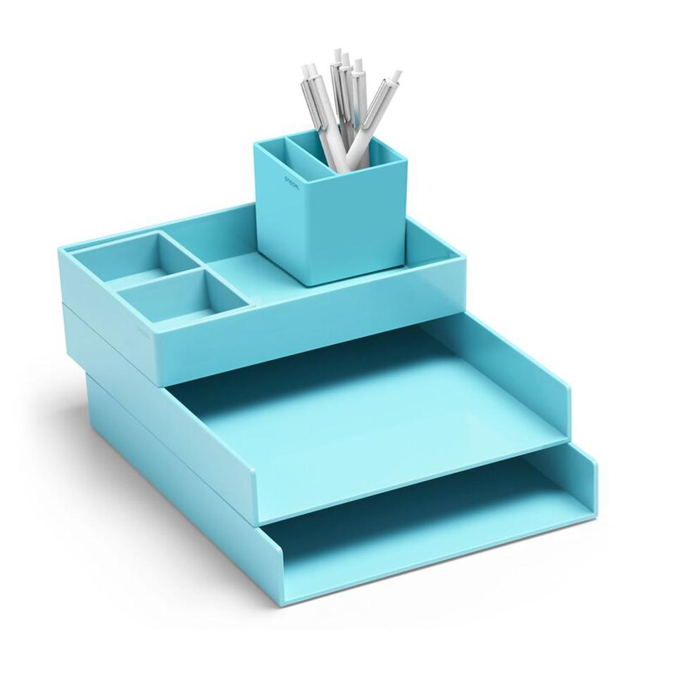 Poppin Super Stacked Desk Tray