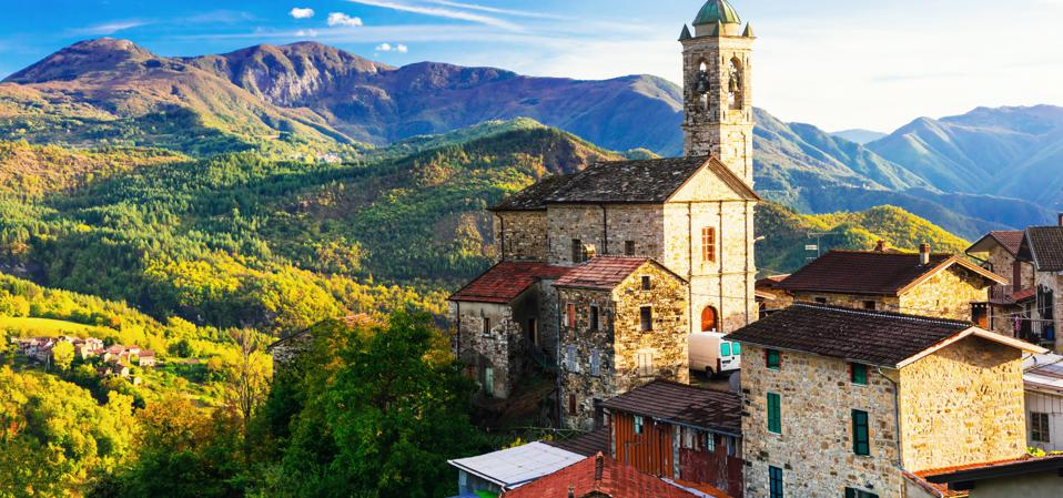 Pictorial small village in mountains - Castelcanafurone, Emilia-Romagna, Italy