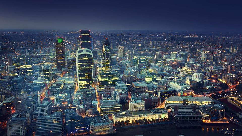 Pemandangan udara Kota London