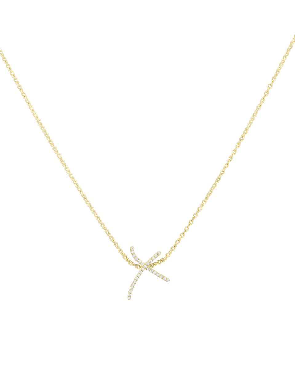 Stephen Webster diamond ″X″ necklace in 18-karate gold and diamonds.