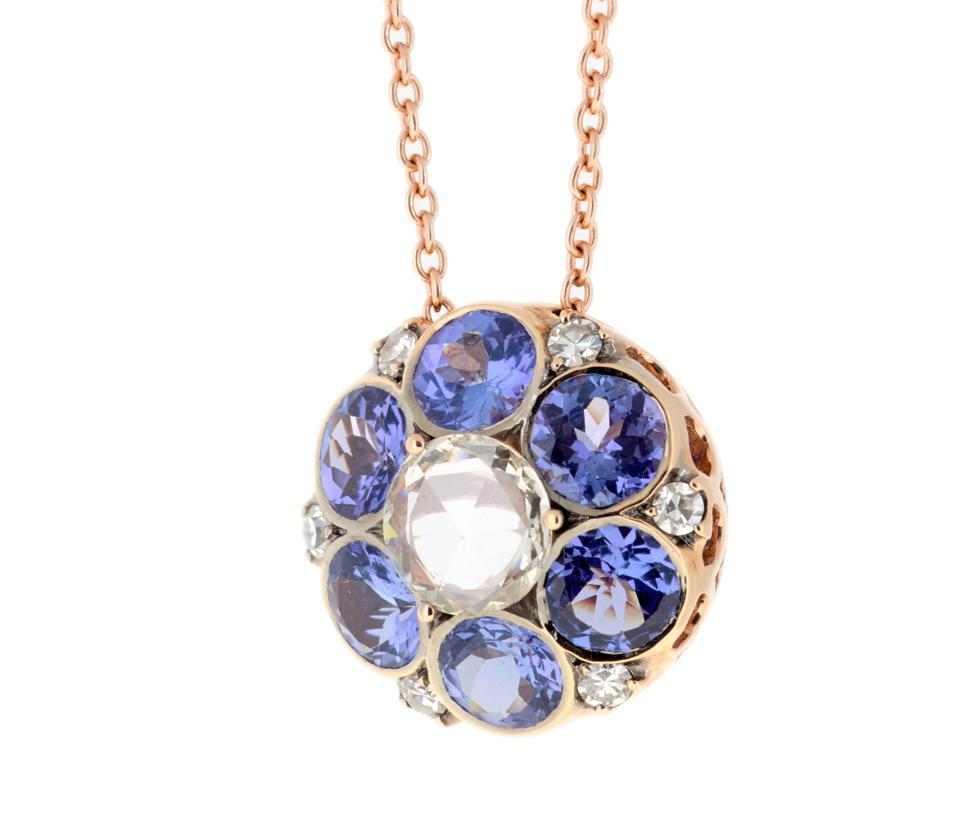 Selim Mouzanar diamond and sapphire necklace