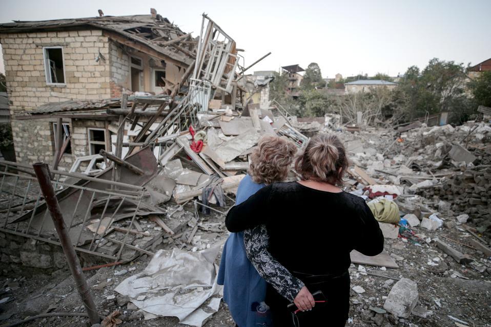 Stepanakert, Nagorno-Karabakh in aftermath of night shelling attack