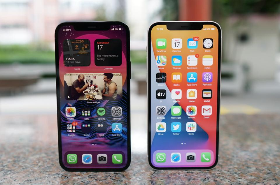 The iPhone 12 and 12 Pro.