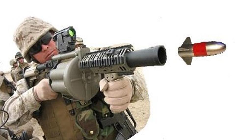 Grenade launcher firing