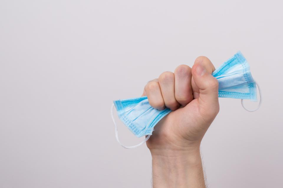 Hand clenching mask