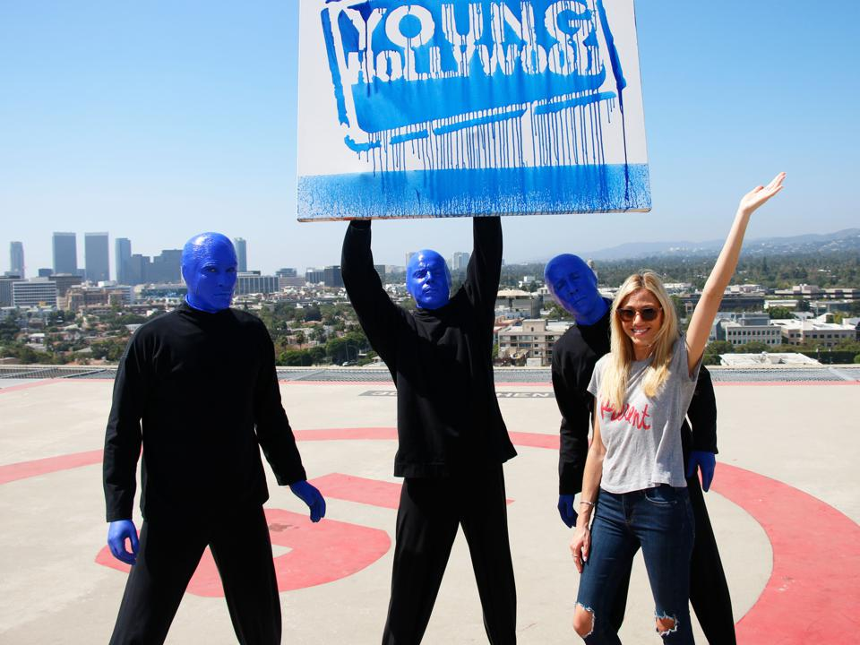 Blue Man Group Visits Young Hollywood Studio