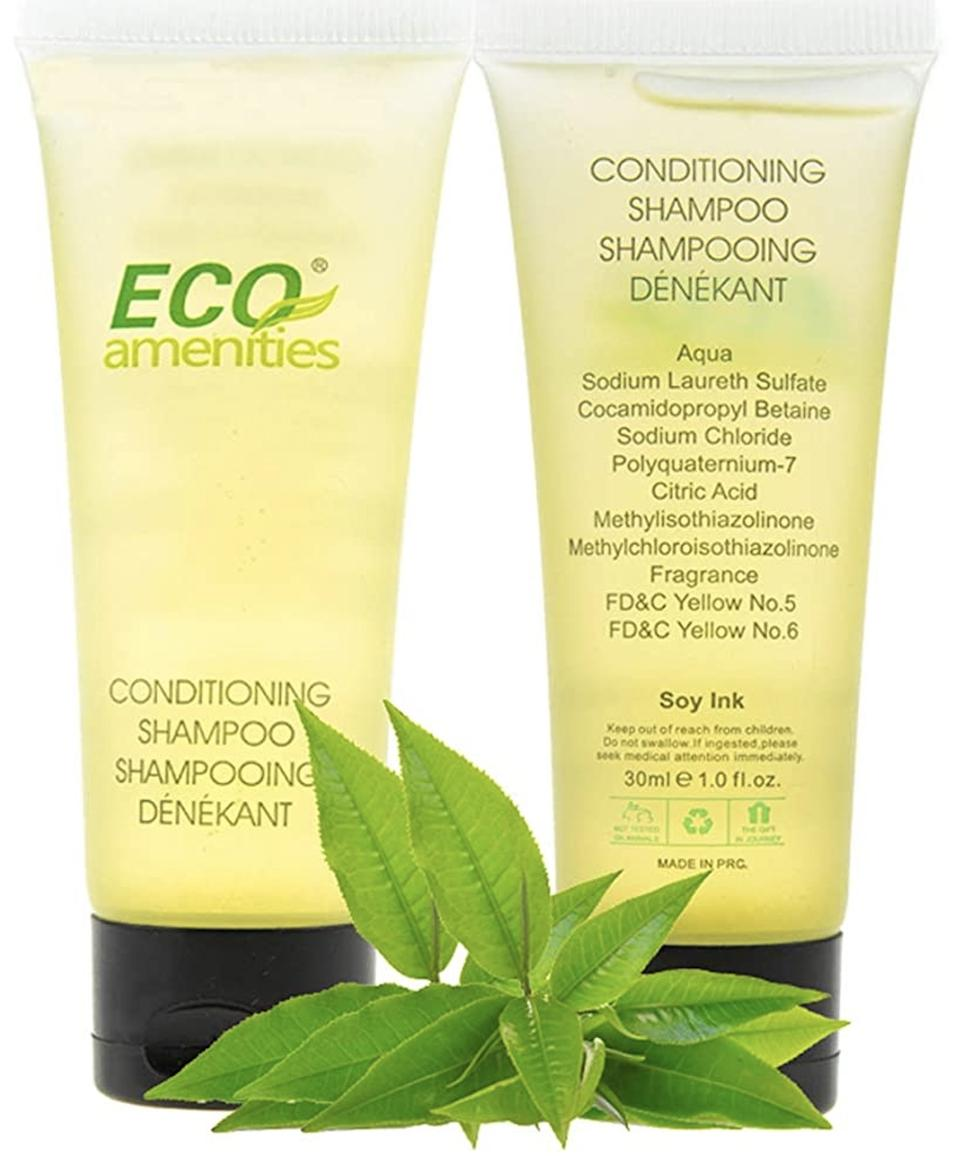 This is an image of Eco Amenities 2-in-1 Shampoo and Condition sold on Amazon Indie Beauty
