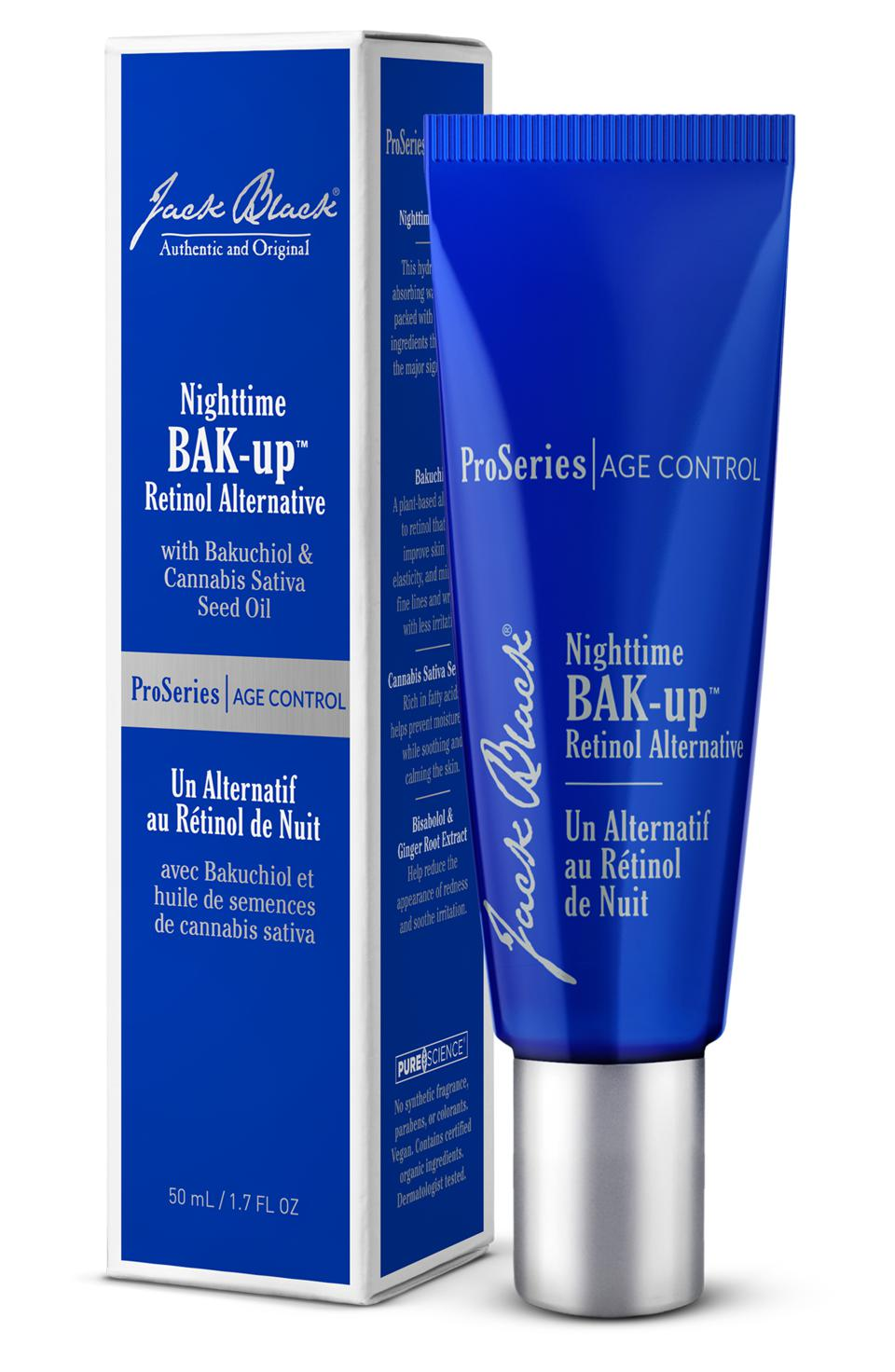 Nighttime BAK-Up is a retinol alternative that fights the major signs of aging.