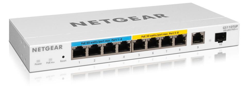 Netgear GS110TUP managed network switch