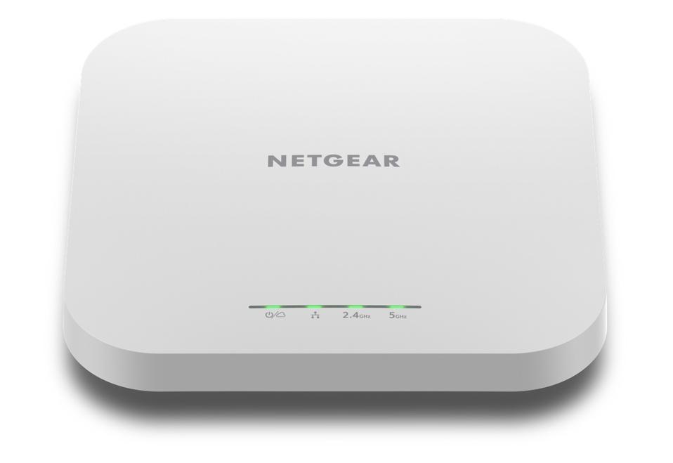 Front view of Netgear WAX 610 wireless access point