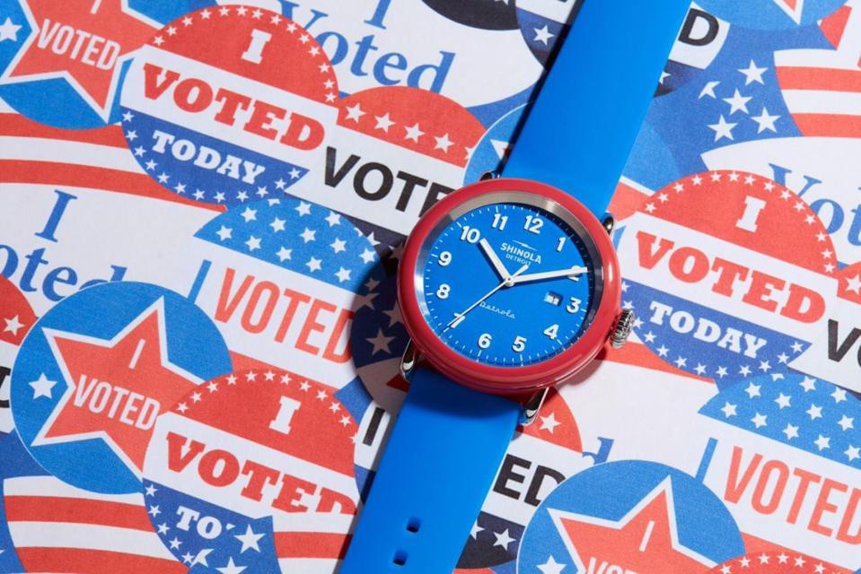 Shinola Detrola I Am A Voter watch