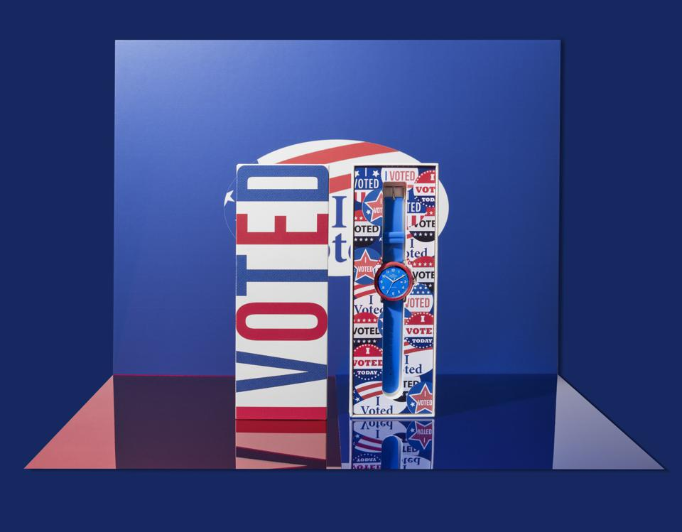 Shinola Detrola I Am A Voter watch in packaging