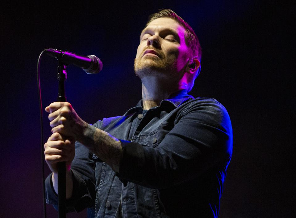 Brent Smith of Shinedown performs as one half of duo Smith & Myers. Friday, October 9, 2020 at Lakeshore Drive-in in Chicago, IL (Photo by Barry Brecheisen)