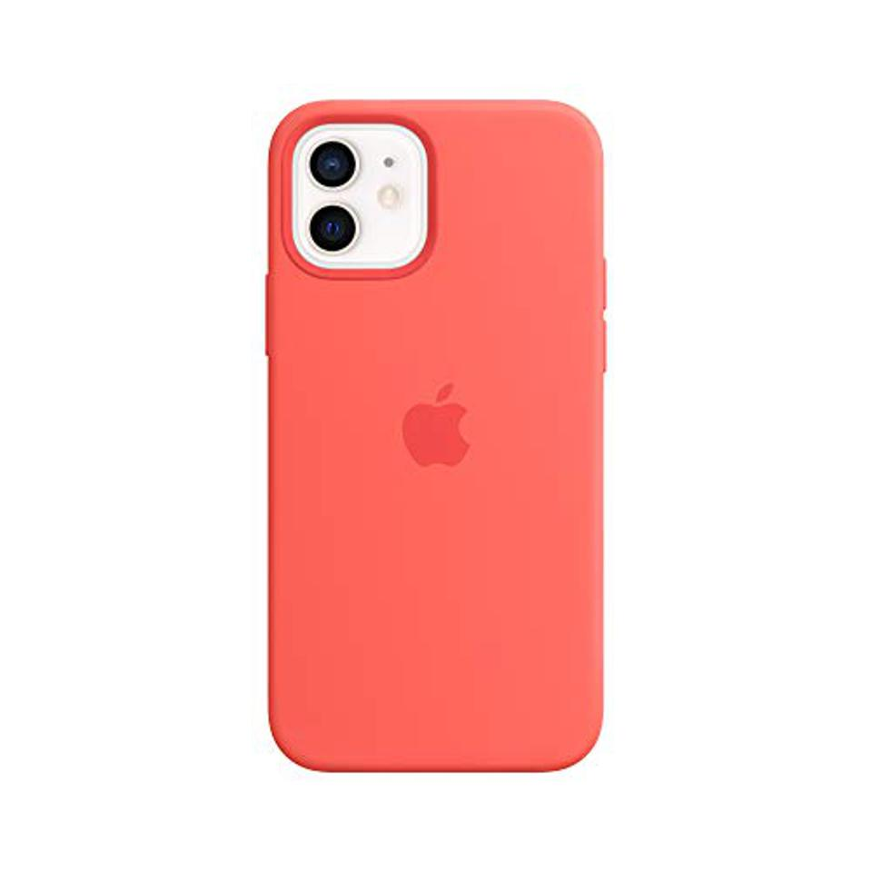 Apple Silicone Case with MagSafe (for iPhone 12 | 12 Pro) - Pink Citrus