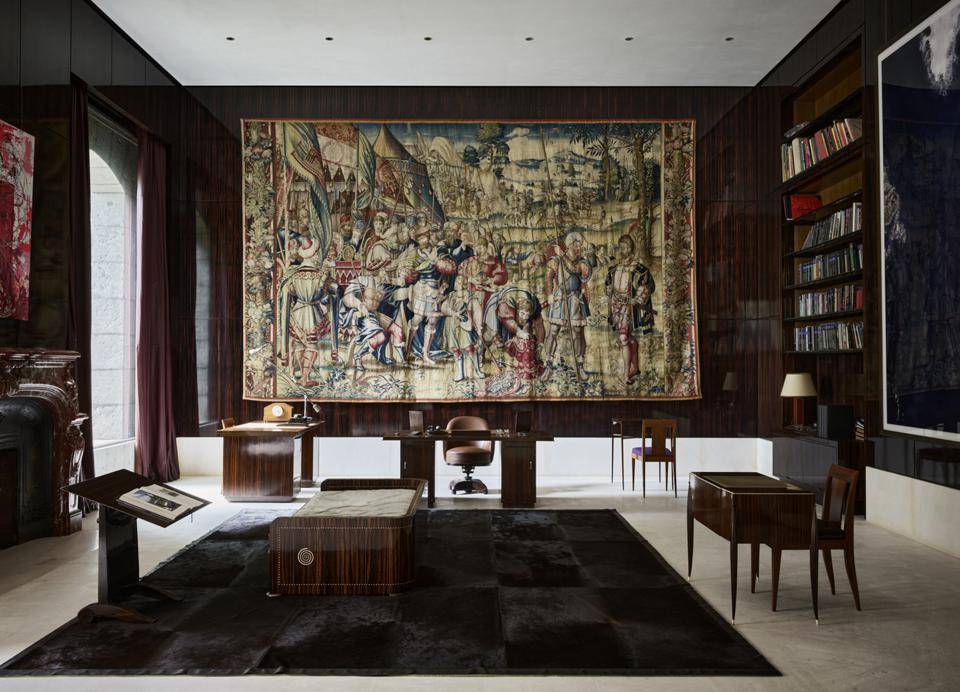 The Art Deco library with Picasso's Guernica.