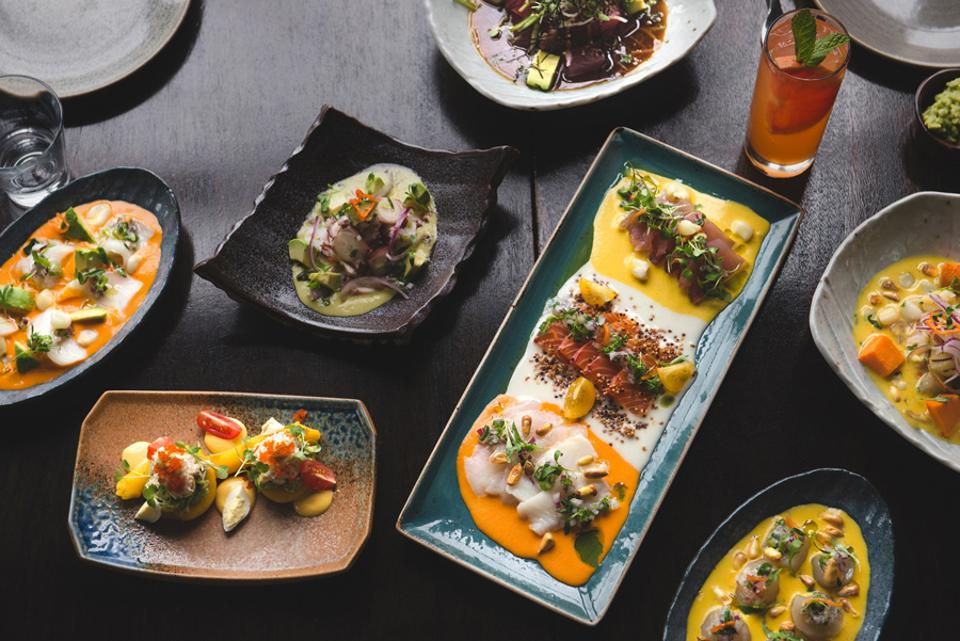 A selection of dishes from La Mar.