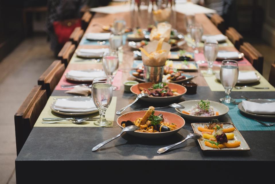 La Mar table spread.