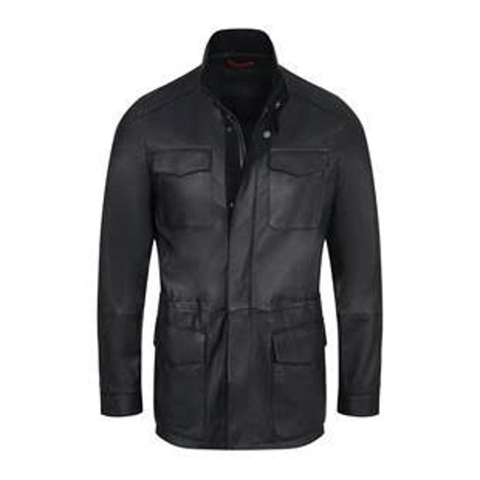 Bijan Leather Safari Style Jacket