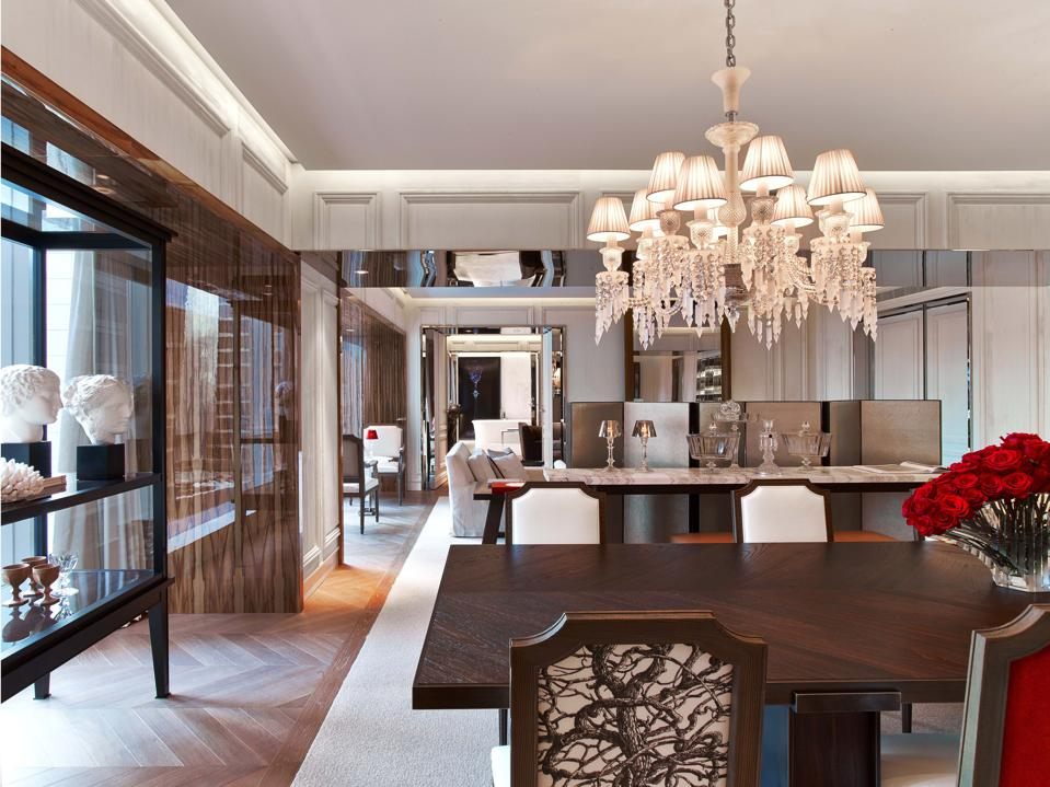 Baccarat Suite with chandelier