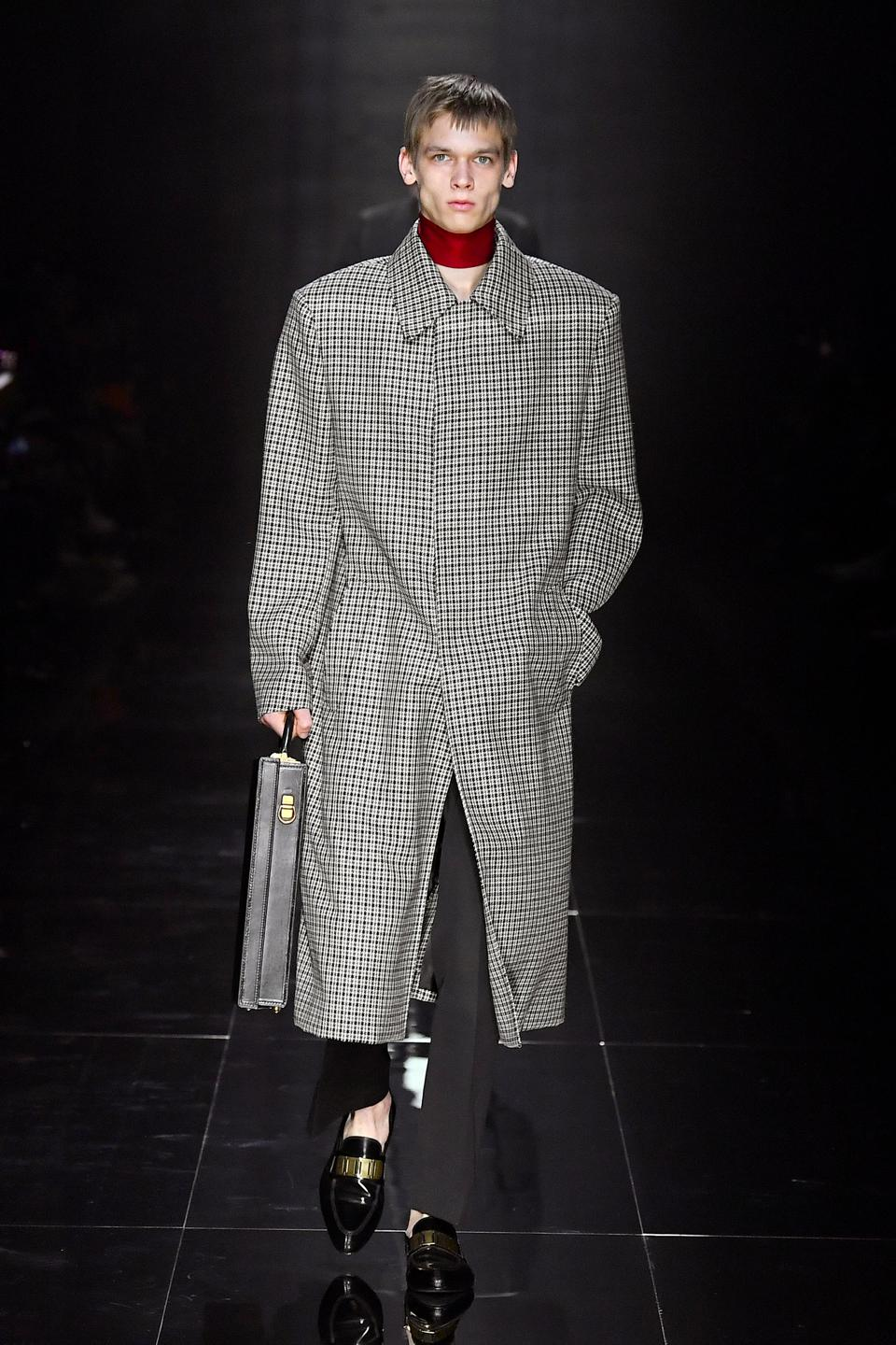 Dunhill Wool Check Coat