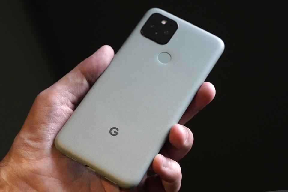 A Google Inc. Pixel 5 smartphone. Photographer: Toru Hanai/Bloomberg