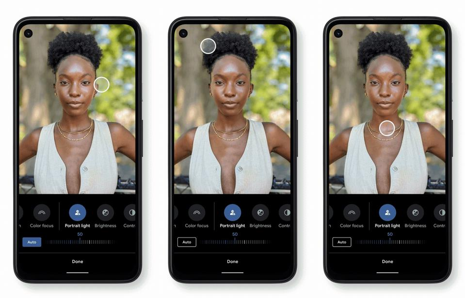 Google's Portrait Lighting function allows you to enhance existing photos with a movable virtual light source.