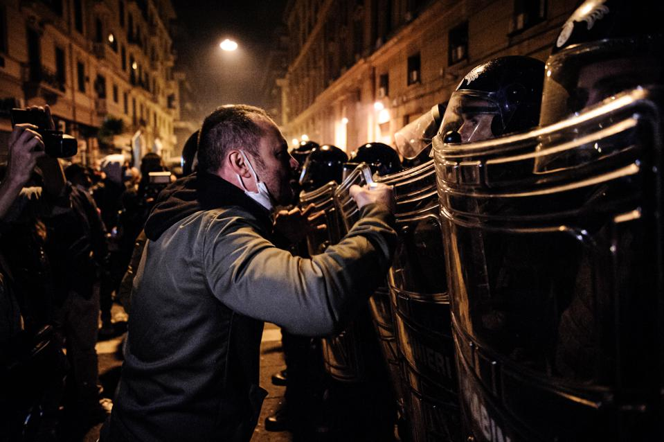 Coronavirus, riots, Street Protest In Naples Over Lockdown Threat