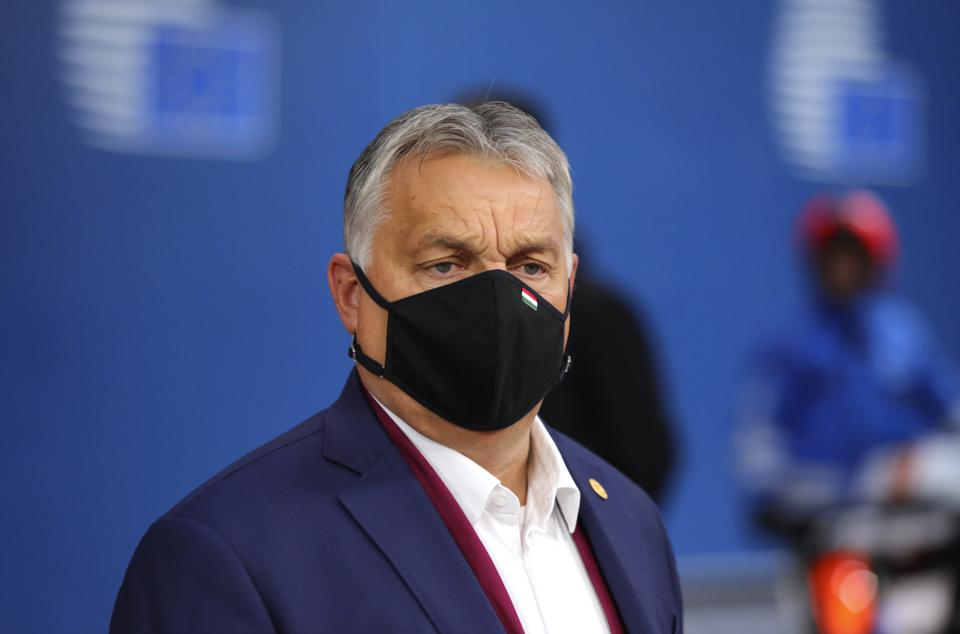 Hungary's Prime Minister, Viktor Orban, at a European Union (EU) summit in Brussels on October 2, 2020.