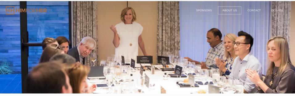 Screen shot of himforher.org dinner party