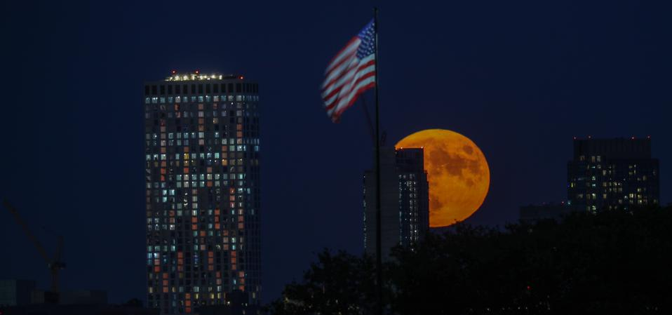 A ″Blue Moon″ is more likely to look orange, at least when it's rising.