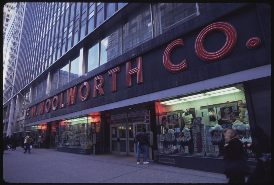 F.W. Woolworth Store Exterior