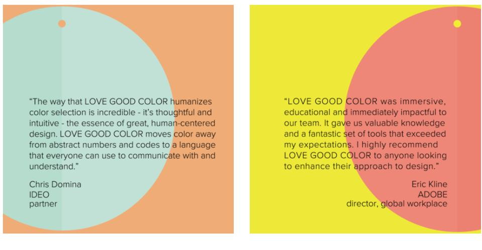 The language of color as described by Guido-Clark's clients