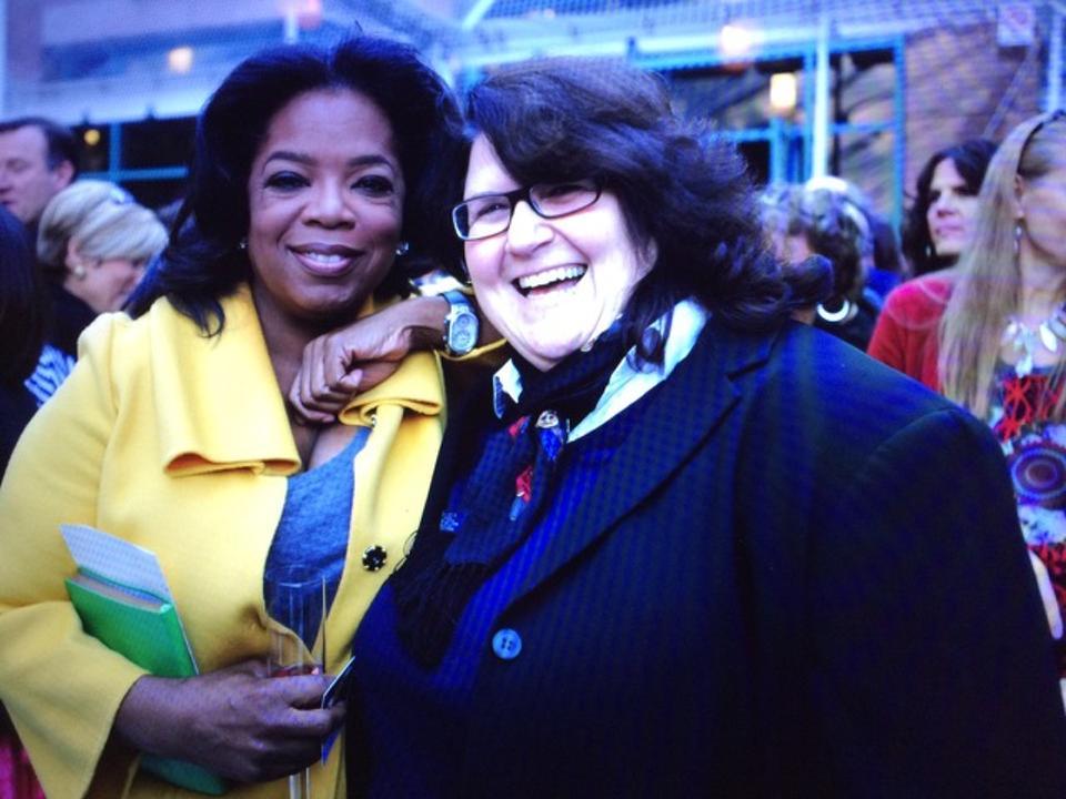 Julie Stern and Oprah Winfrey
