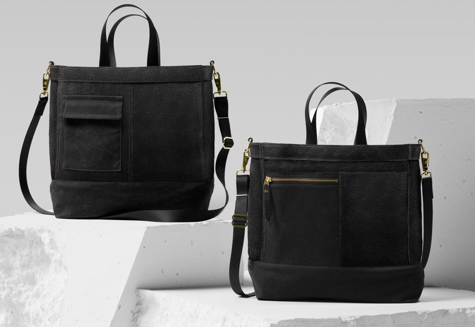 Two leather-looking bags.