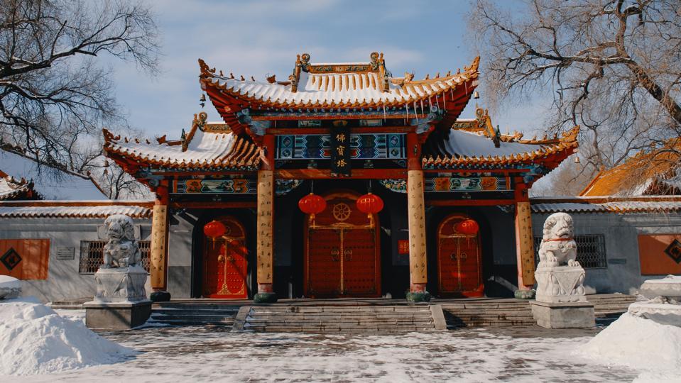 Fobao Pagoda Temple in Harbin
