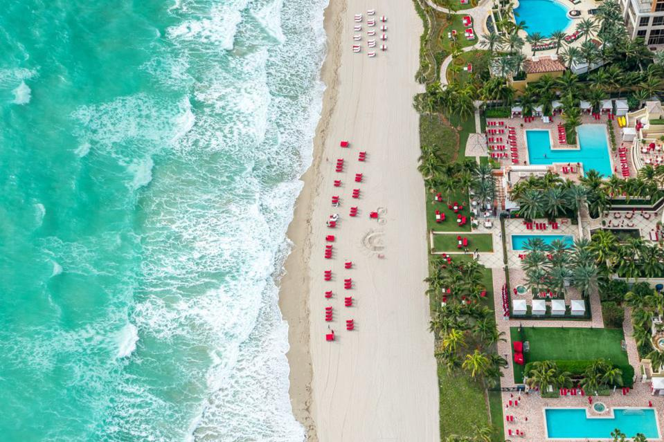 Enjoy Acqualina's 4 beachfront pools