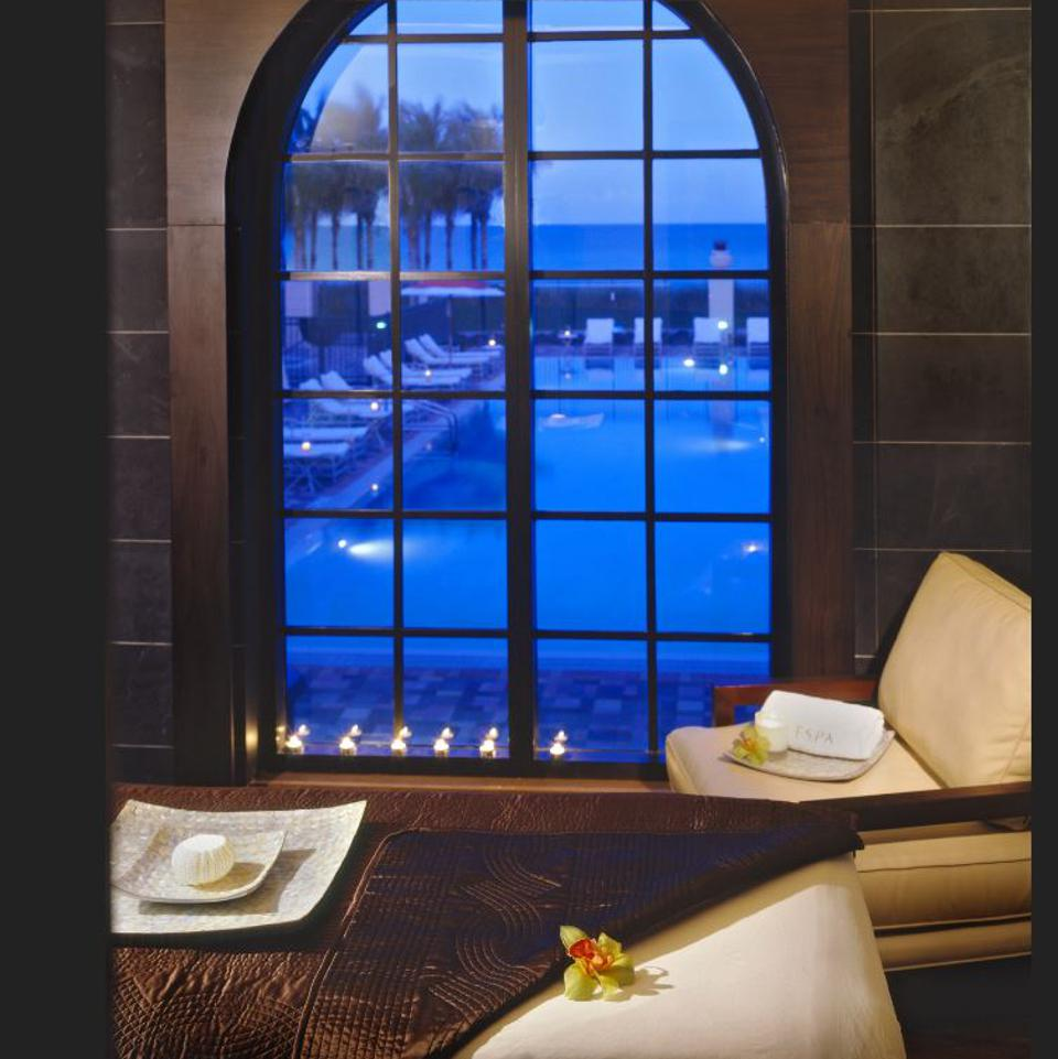 A luxurious spa treatment is a great way to end the day.