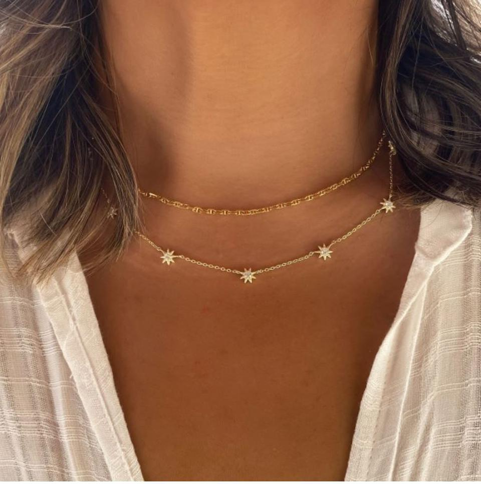 This layered Trio consists of three necklaces from the O Collection linked into one set. Our patented connectors let you easily layer necklaces in any order you desire. Wear as a Trio or unlink to wear each necklace separately. Designed to mix and match, you can create a look that's uniquely yours.